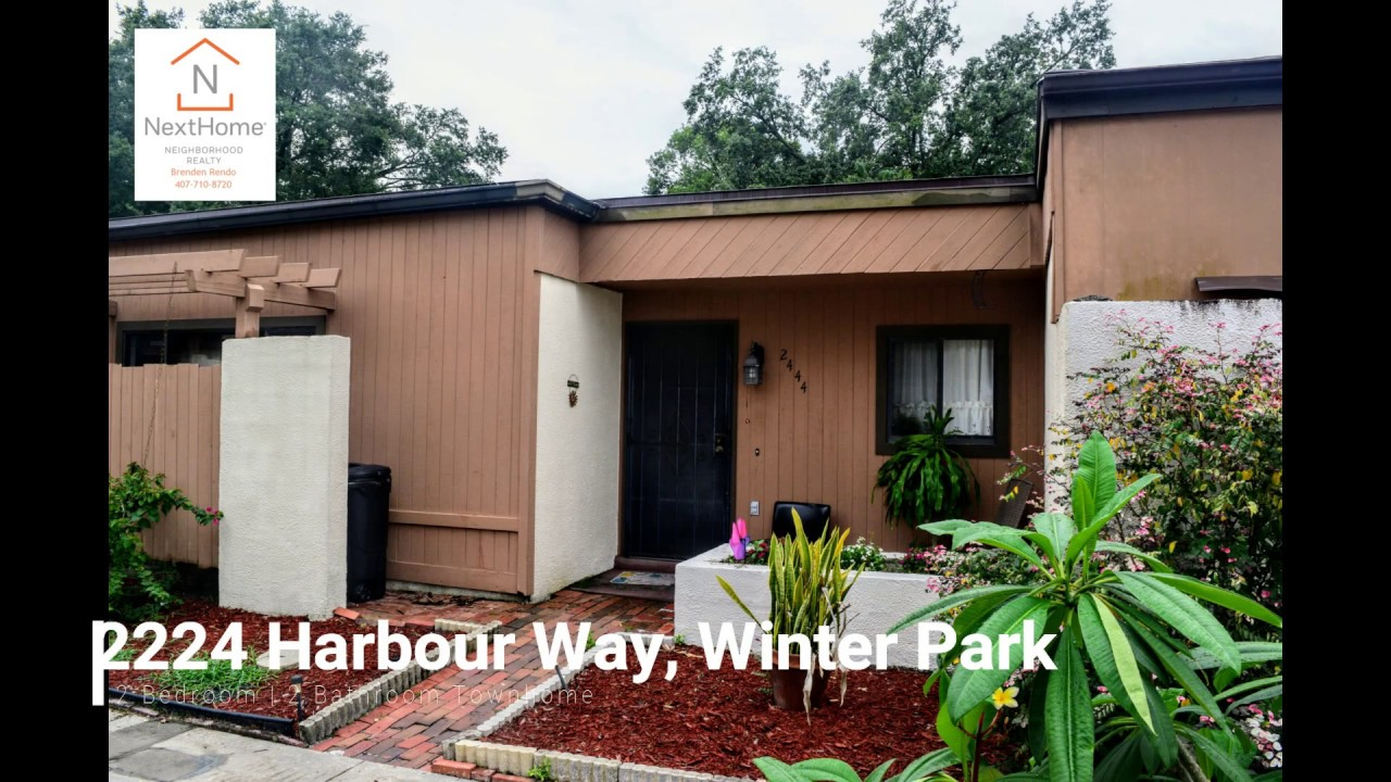 2444 Harbour Way Winter Park Fl Townhome For Sale Youtube