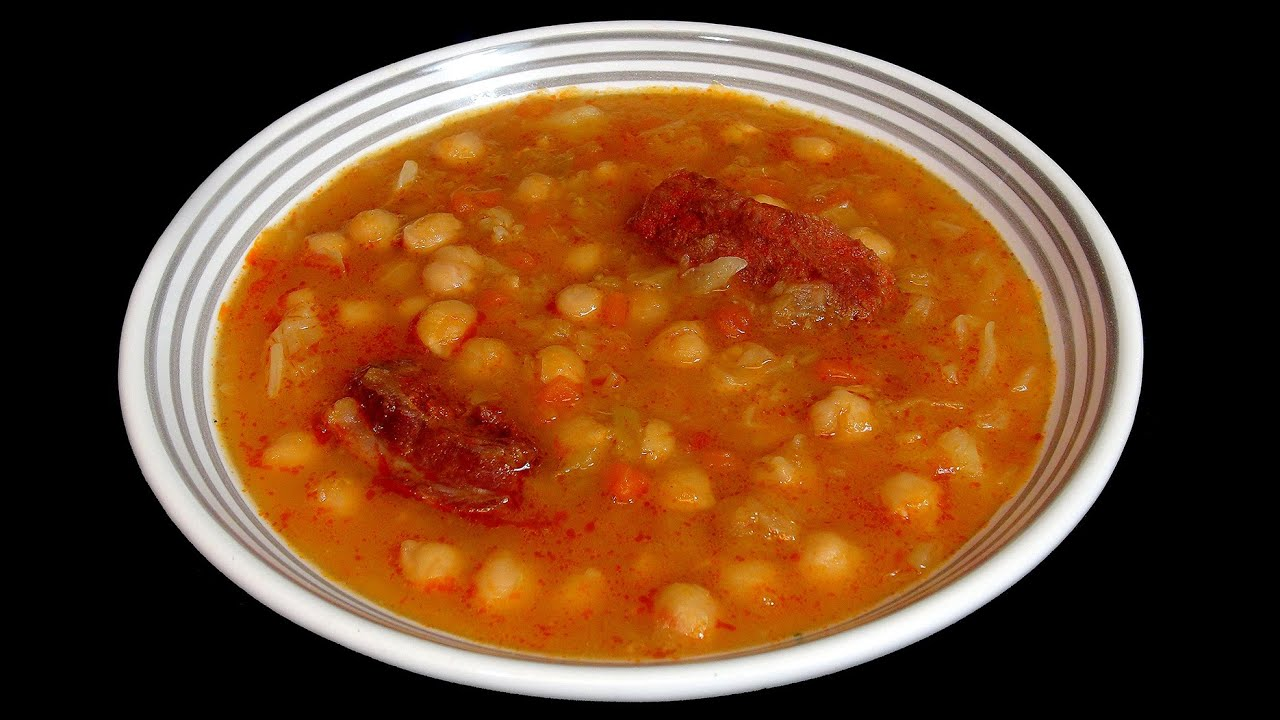 Garbanzos con costilla adobada recetas de legumbr - Garbanzos con costillas ...