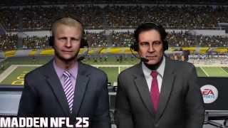Madden NFL 15 and 25 Graphics Comparison PS4 1080p
