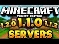 TOP 5 BEST SERVERS FOR MCPE  - SERVERS FOR MCPE 1.1.2 [ MCPE 1.1.0  SERVERS ] MCPE 1.1 SERVERS (NEW)