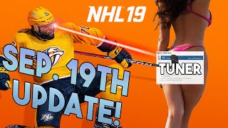 NHL 19 UPDATE! POKECHECK SPAM RETURNS?! (September 19th Tuner)