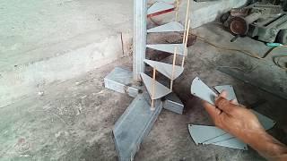 Hướng dẫn chi tiết làm cầu thang xoắn ốc.(P1)