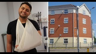 Hero saves child in fall from 20ft flat window