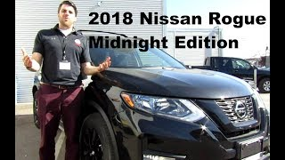 2018 Nissan Rogue SV AWD Midnight Edition Detailed Walk Around Review