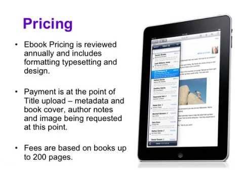 Ebook Publishing Information