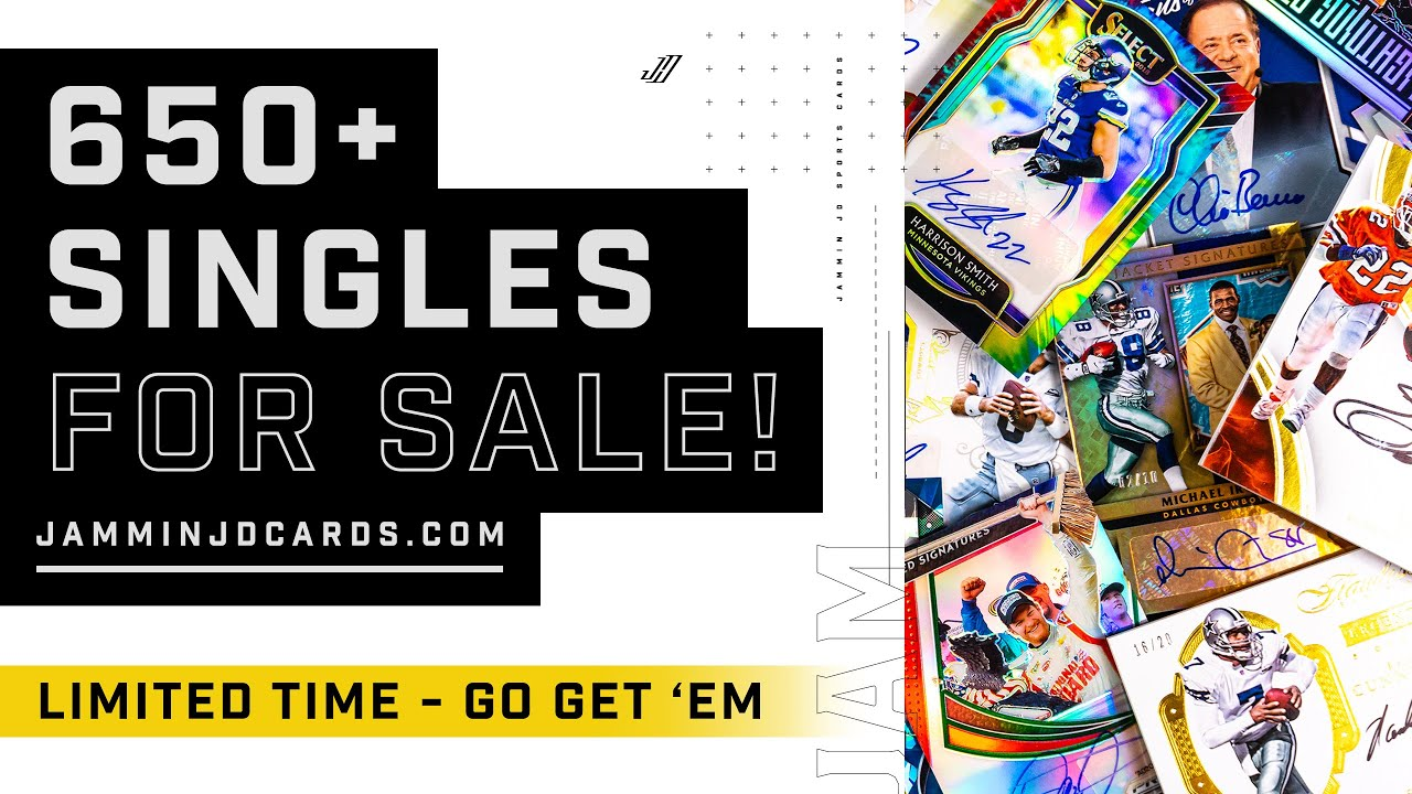 650+ Single Sports Cards For Sale - Limited Time!