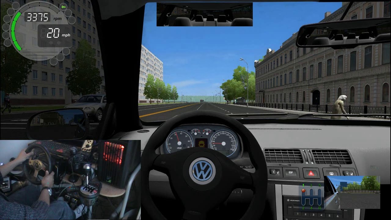 City Car Driving Logitech G25 And Thrustmaster TH8A Shifter