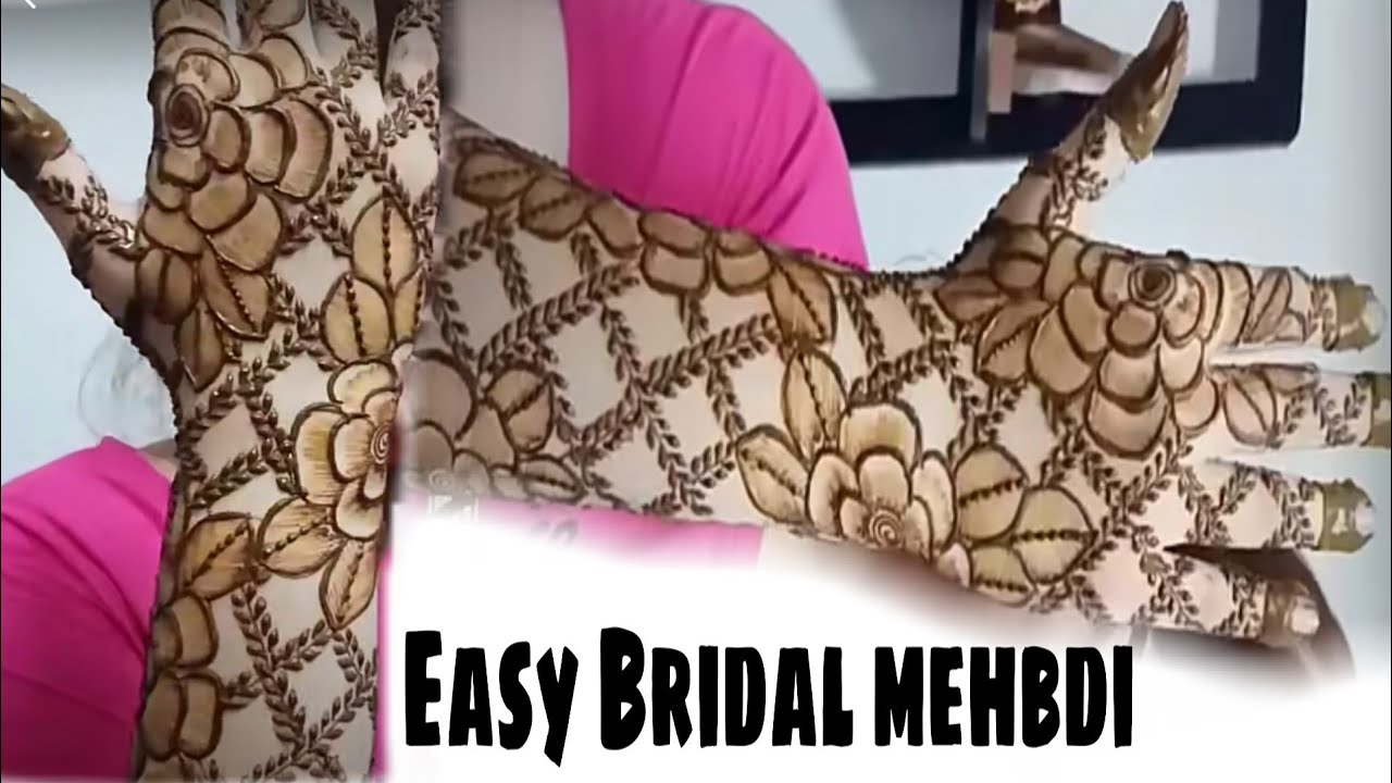 Trending easy check mehndi design 2020|Latest easy check mehndi design|Bridal check mehndi design|
