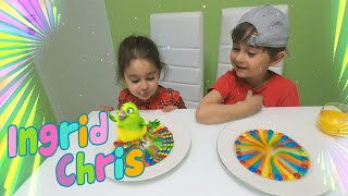 Rainbow Candy Science Experiment for Kids | Melting M&M's Rainbow from Ingrid and Chris