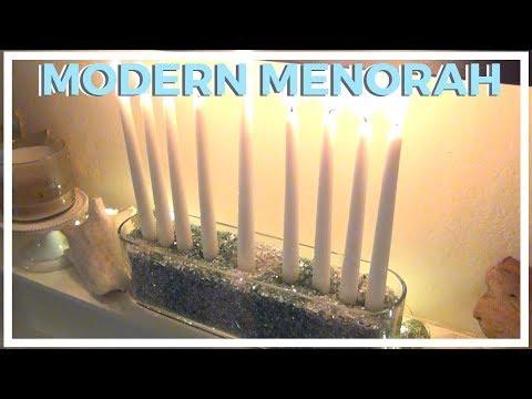 Modern Crushed Glass Menorah ♥ 8 DIYs of Hanukkah