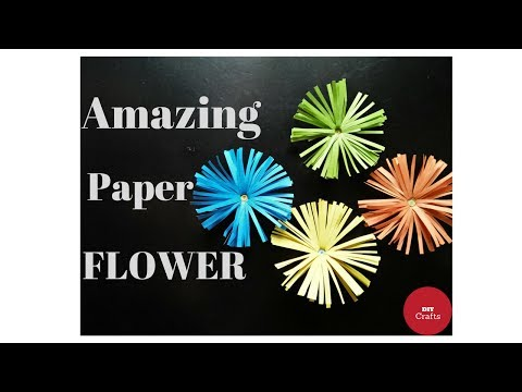 DIY crafts: PAPER FLOWERS (daisies) - How to make a paper flowers - Paper Flower Tutorial