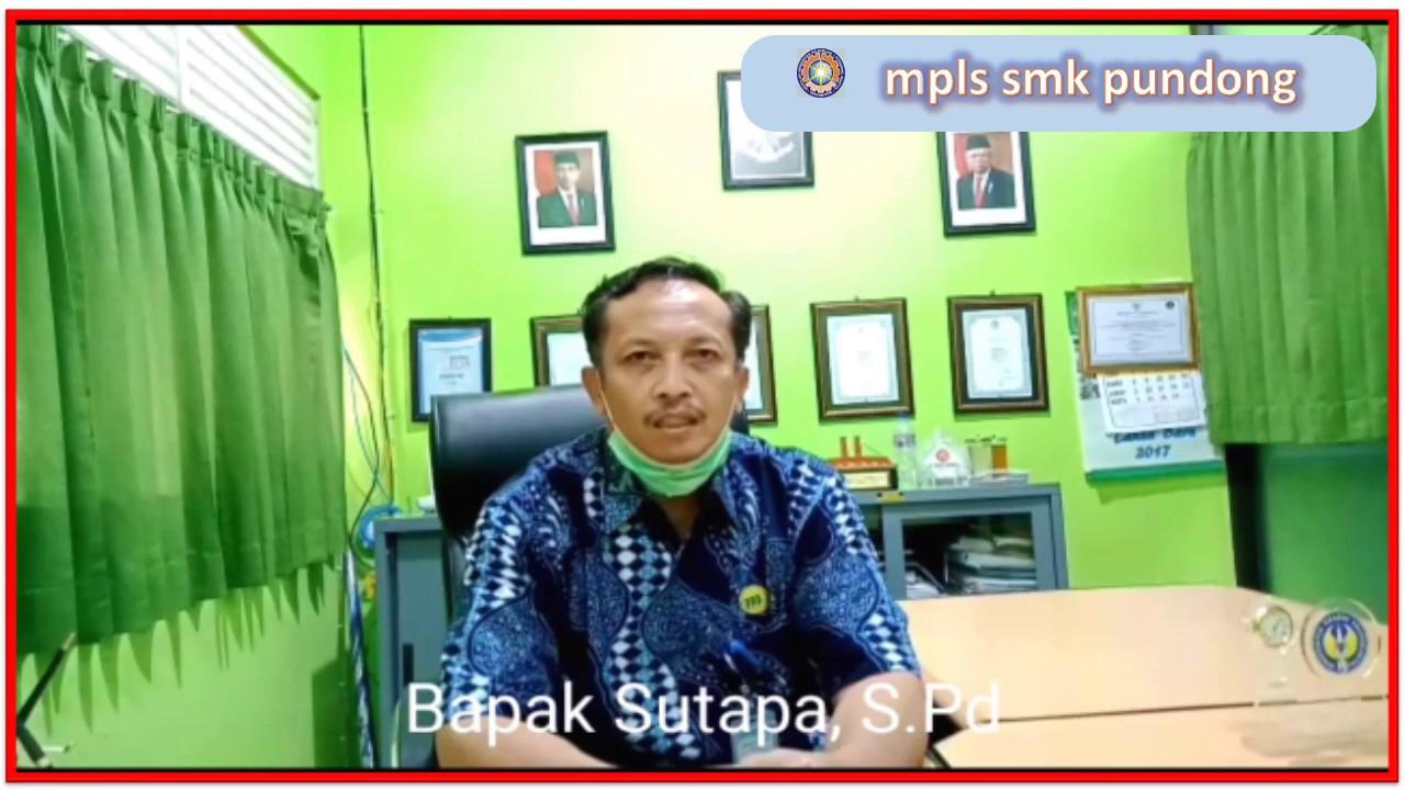 KATA SAMBUTAN KEPALA SMK NEGERI 1 PUNDONG DALAM MPLS 2020 - YouTube
