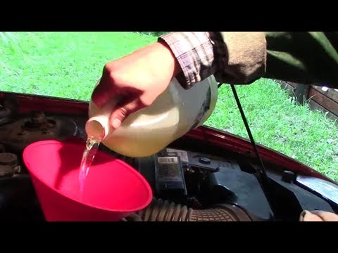 Safe Engine Flush Using Diesel Gasoline
