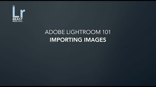 Adobe Lightroom 101 Summary Week 2 Part 2
