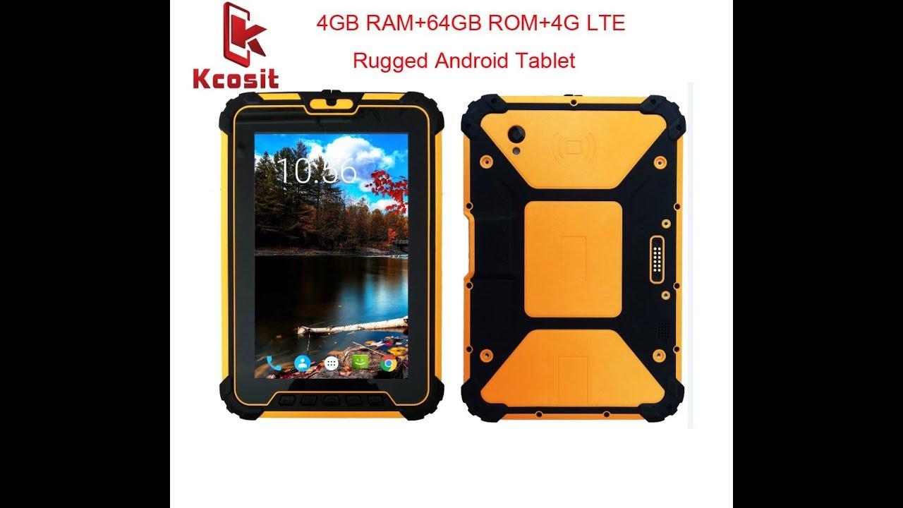 Kcosit K927 Waterproof Tablet Pc Android 7 1 4gb Ram 64gb Rom Msm8953 Octa Core 8 Uhf Rfid 4g Gps