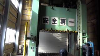 アミノ 油圧プレスPF400K 試運転2