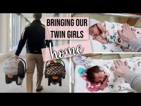 FINALLY BRINGING OUR TWIN GIRLS HOME FROM THE HOSPITAL & NICU | STARTING OUR LIVES WITH 2 NEWBORNS