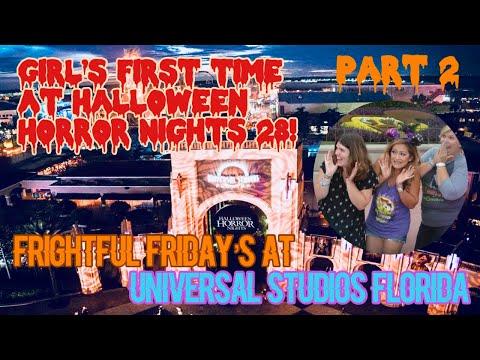 ????LIVE.Halloween Horror Nights with Gen & Mel. Part 2. Universal Studios Florida
