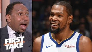 Kevin Durant not in the wrong for calling out reporter, media - Stephen A. | First Take