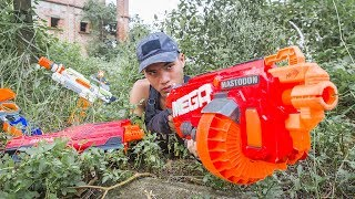 LTT Game Nerf War : Winter SEAL X Nerf Guns Fight attack Criminal Group Rescue SWAT Genius
