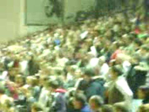 Vzdušje na tekmi KK Krka : KK Union Olimpija