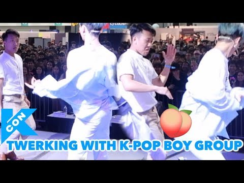 TWERKING WITH IN2IT | KCON DAY 2 VLOG
