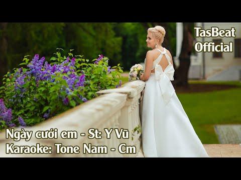 Karaoke Ngày Cưới Em - Tone Nam | TAS BEAT