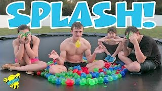WATER BALLOON FIGHT! HUNGER GAMES STYLE WATER BALLOON FRUIT NINJA