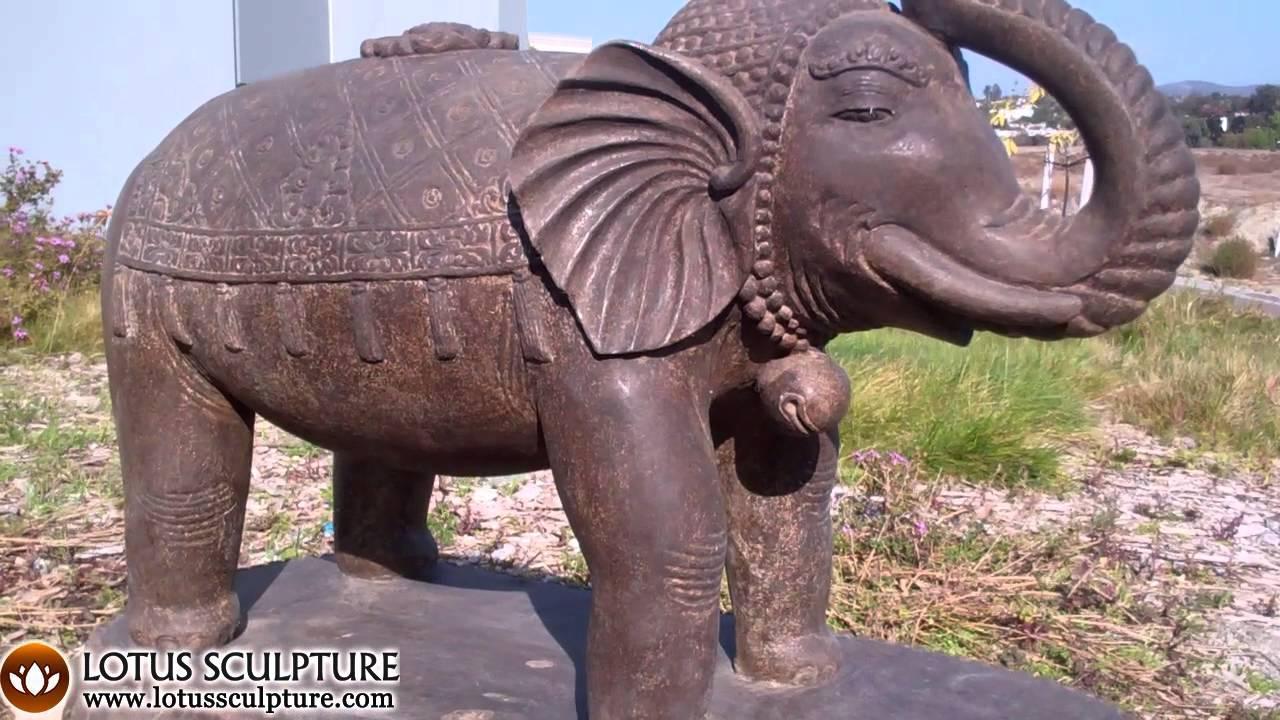 Garden Elephant Statue, Stone Elephant Sculpture Bali   YouTube