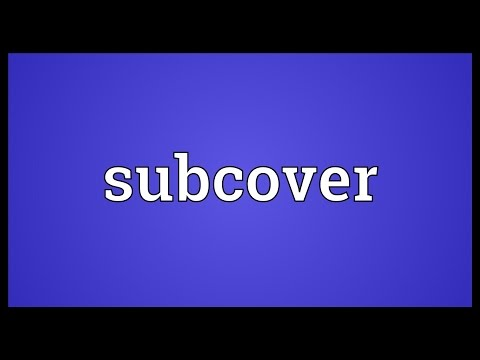 Header of subcover