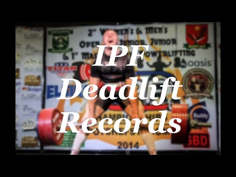 All IPF Deadlift World Records Male Open  (-59kg to +120kg)