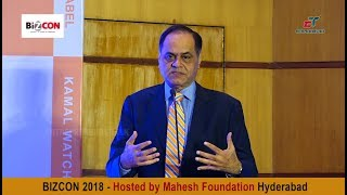 D Mart Chairman Ramesh S Damani at Bizcon 2018 Hyderabad - Entrepreneurs Talk