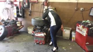 Tires in heels