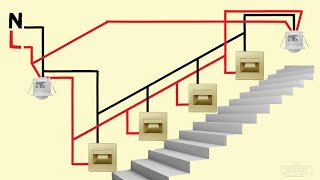 stair lighting connection with motion sensors wiring diagram