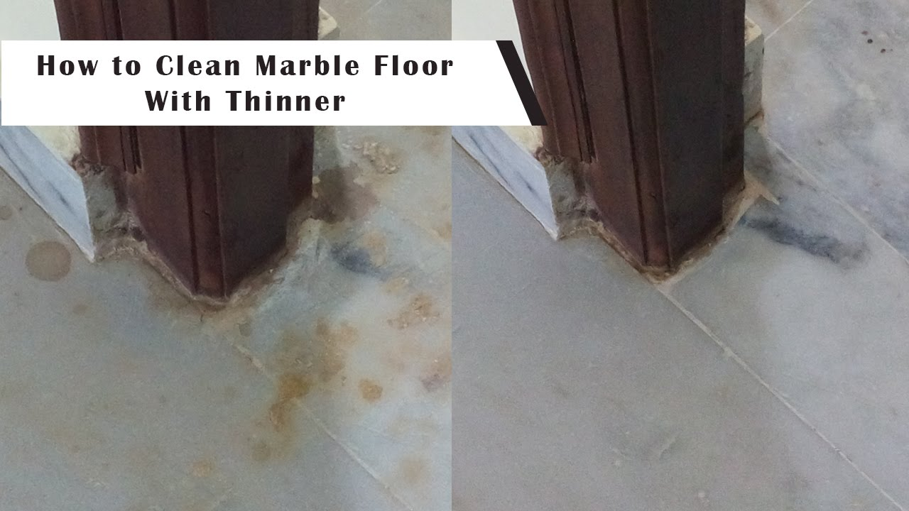 How to clean marble and granite floors with thinner youtube dailygadgetfo Choice Image