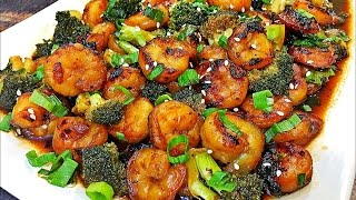 Honey Garlic Shrimp and Broccoli Recipe - Easy Stir Fry Recipe