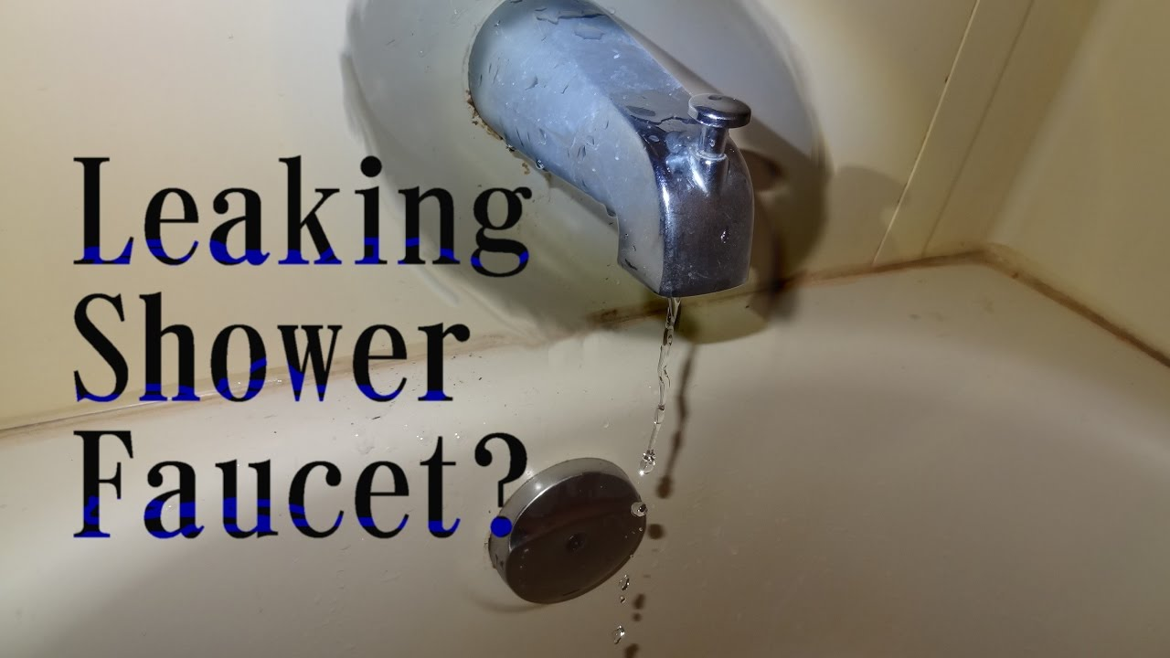 how to fix a leaking shower faucet single knob type with inside tip