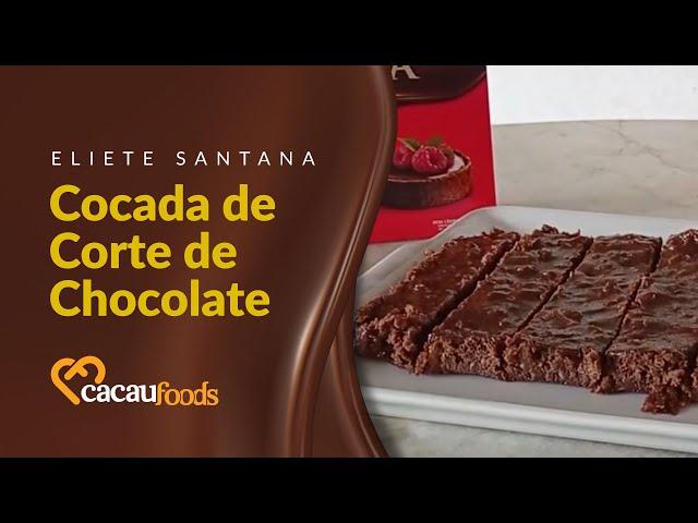 Cocada de Corte de Chocolate   Cacau Foods
