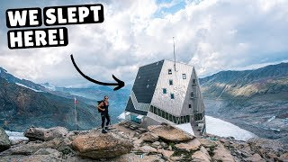 INCREDIBLE FUTURISTIC MOUNTAIN HUT (way out of our comfort zones)