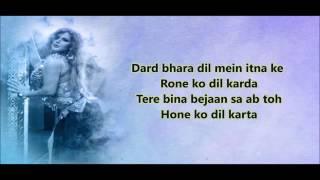 Wajah Tum Ho - Mahi Ve Lyrics Video Song | Neha Kakkar
