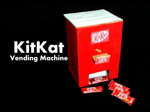 How to Make KitKat Chocolate Vending Machine at Home DIY – Homemade Vending Machine Using Cardboard