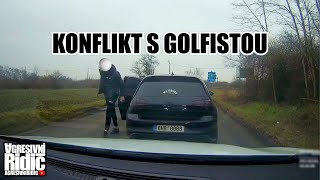Conflict with Golf Driver, Dashcam column Pilsen, Mustang vs C63S Chase