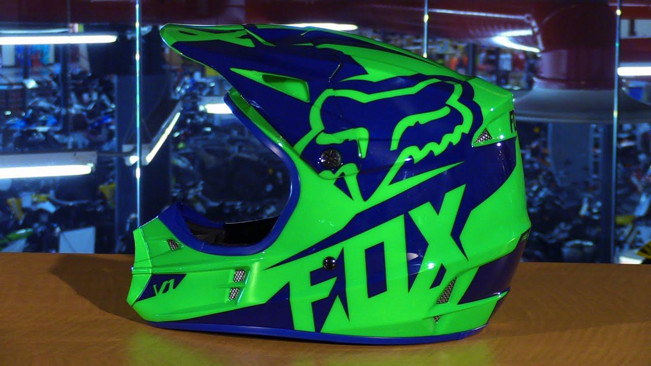Fox Racing 2016 V1 Race Motorcycle Helmet Review Youtube