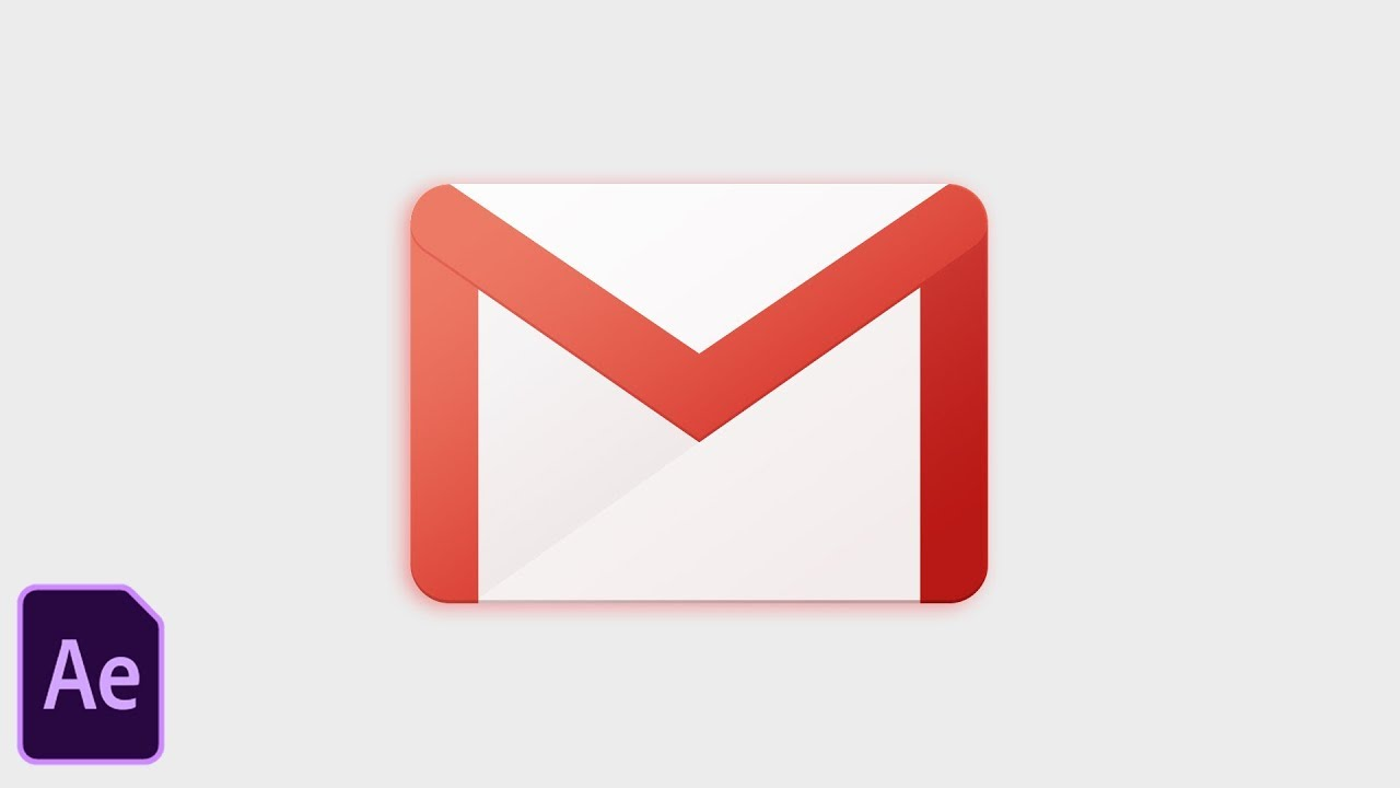 Gmail App Icon Animation Tutorial - After Effects CC 2018