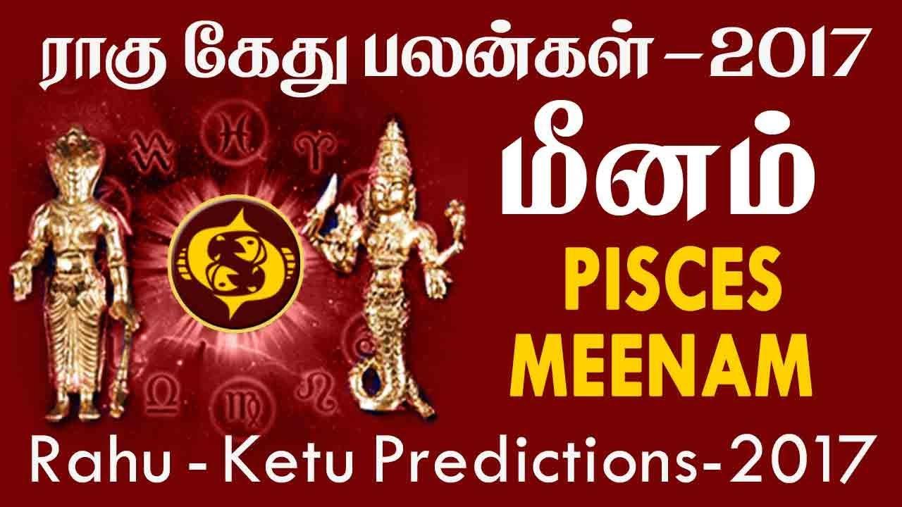Rahu ketu peyarchi transit horoscope for meenam rasi pisces predictions 2017