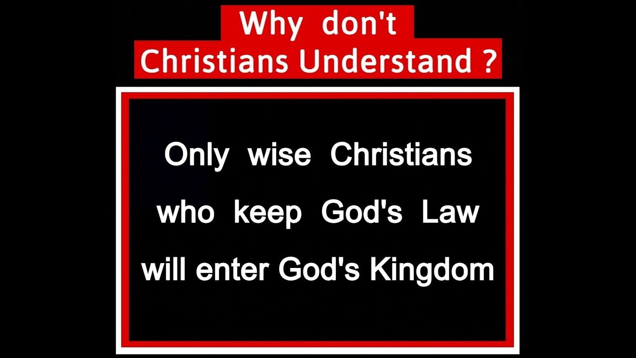 Wise and Foolish Christians - Christ's Gospel of the Kingdom