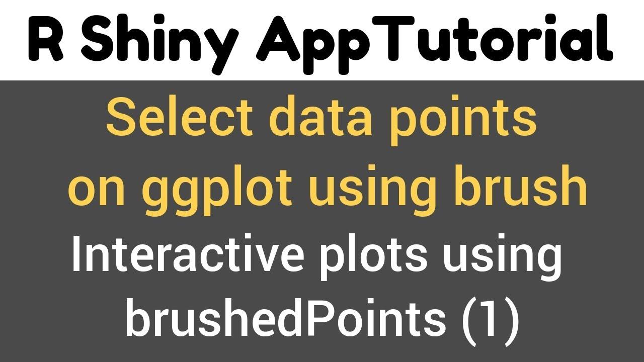 R Shiny Tutorial | brushedPoints | interactive plots | select data points  on ggplot using brush(1)