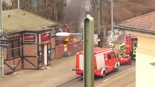 Brand bei der Schallmauer, Rostock