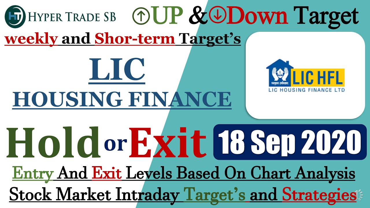Lic Housing Finance Share Target 18 Sept Lic Intraday Tips Lic Latest News Lic Intraday Targets Youtube