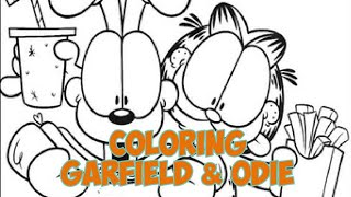 Garfield & Odie - Coloring Pages | Emma's Coloring World
